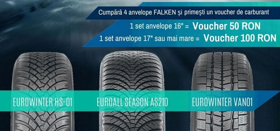 Bucură-te de oferta noastră la anvelopele de iarna Falken!