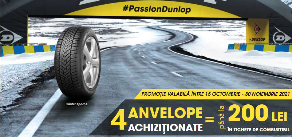 Bucură-te de oferta noastră la anvelopele de iarna Dunlop!